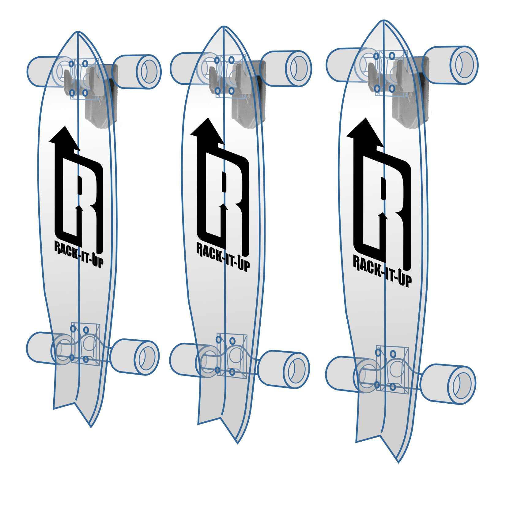 Rackitup-vertical-skateboard-rack ...  sc 1 st  Rack-It-Up Storage & Skateboard Vertical Storage Rack - Rack It Up
